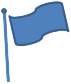 Freedom flag icon