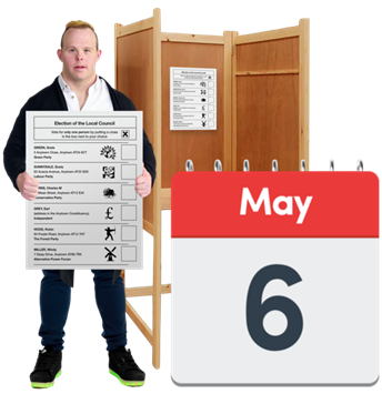 Voting in the local elections on Thursday 6th May